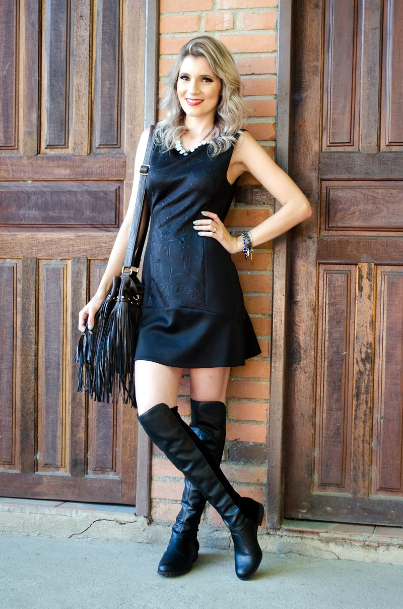 look do dia bota e vestido luana viana